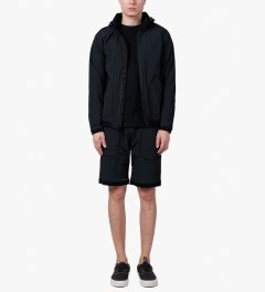 Reigning Champ Black RC-5038 Pull On Shorts Model Picutre