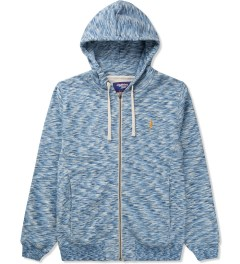 Lightning Bolt Azure Blue Mirror Essential Zip Hoodie Picutre