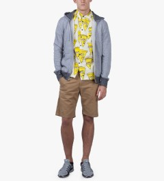 Lazy Oaf Yellow Stuffed Crust S/S Shirt Model Picutre