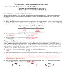 Distance Vs Displacement Worksheet. Worksheets ...
