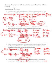 worksheet. Gas Laws Worksheet Answers. Worksheet Fun ...