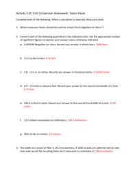 Unit Conversion Factor Worksheet - Breadandhearth