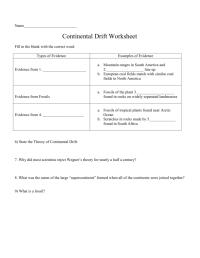 Usable Continental Drift Worksheet   goodsnyc.com
