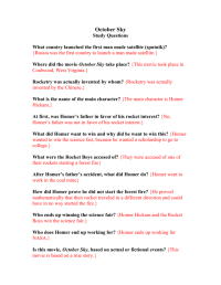 October Sky Worksheet Answers - The Large and Most ...