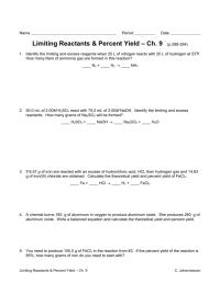 worksheet. Limiting Reactants Worksheet. Grass Fedjp ...