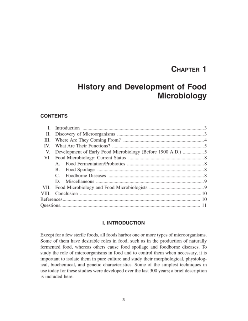 Development History History And Development Of Food Microbiology