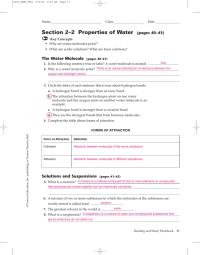 Properties Of Water Worksheet. Worksheets. Ratchasima ...