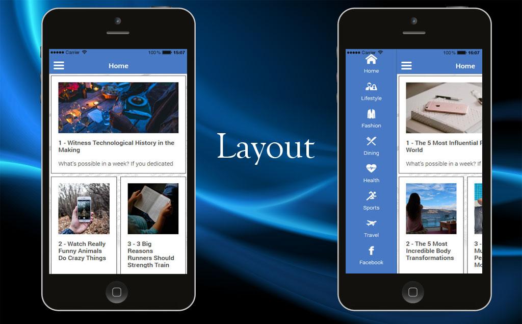 Wordpress News iOS  Android App Template #65139