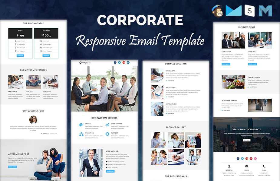 CORPORATE - Responsive Newsletter Template Newsletter Template #64368 - corporate newsletter template