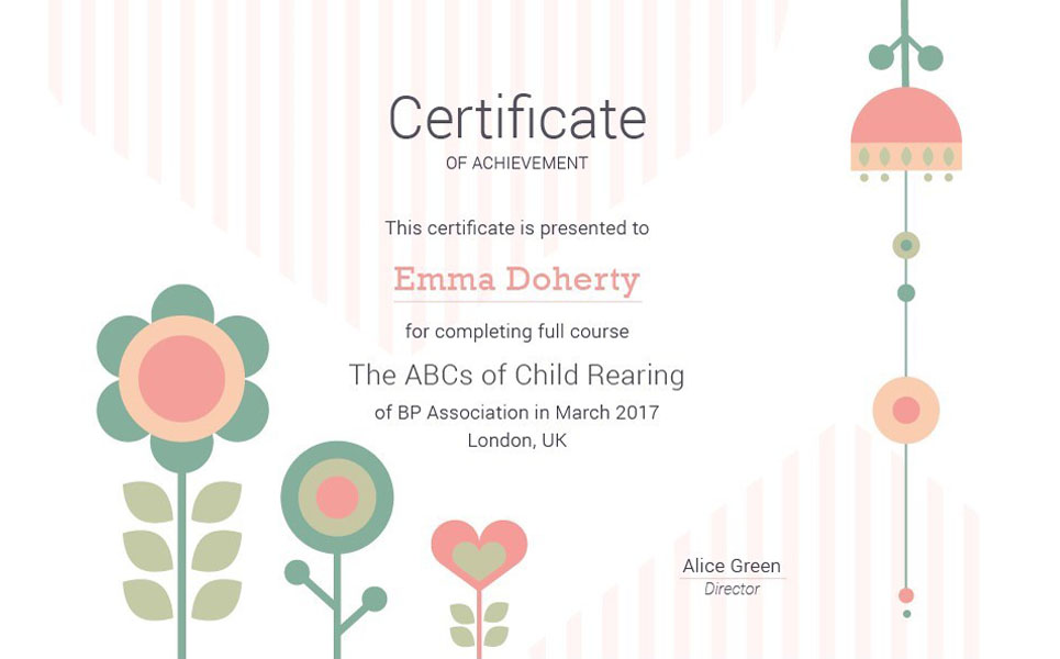 Kids  Flowers Certificate Template #66218