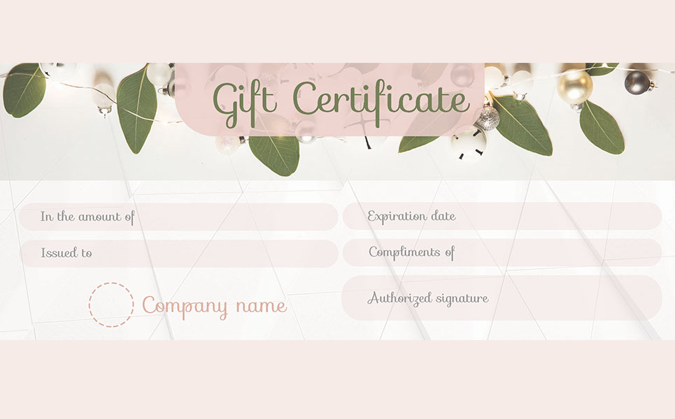 Gift Coupon Certificate Template #66223