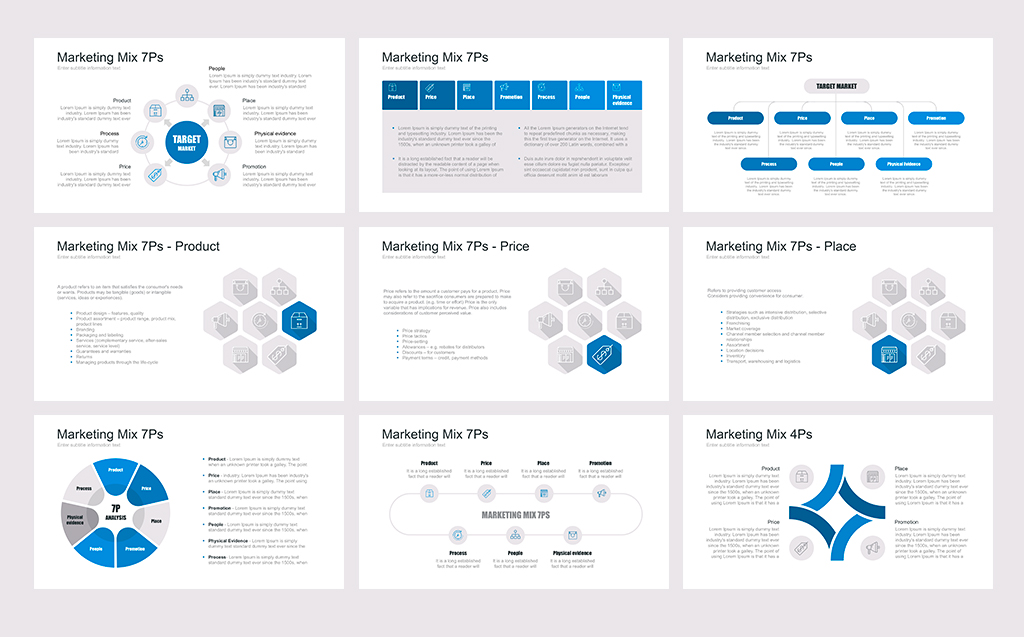 Marketing Mix (tool) PowerPoint Template #67637