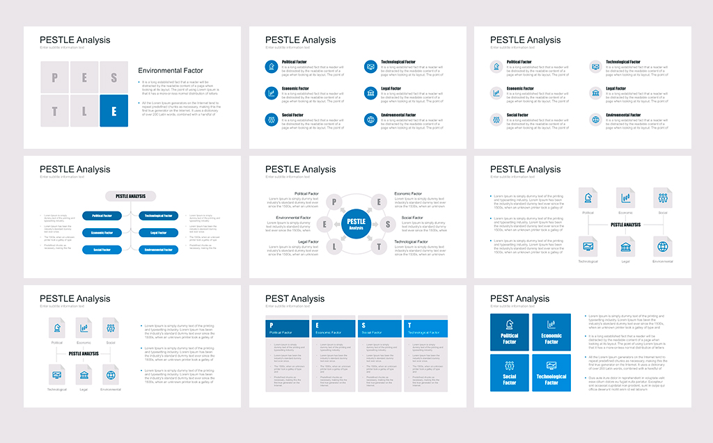 PEST, PESTEL, PESTLE for PowerPoint Template #67640