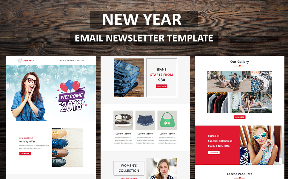New Year Email Newsletter Template #66336