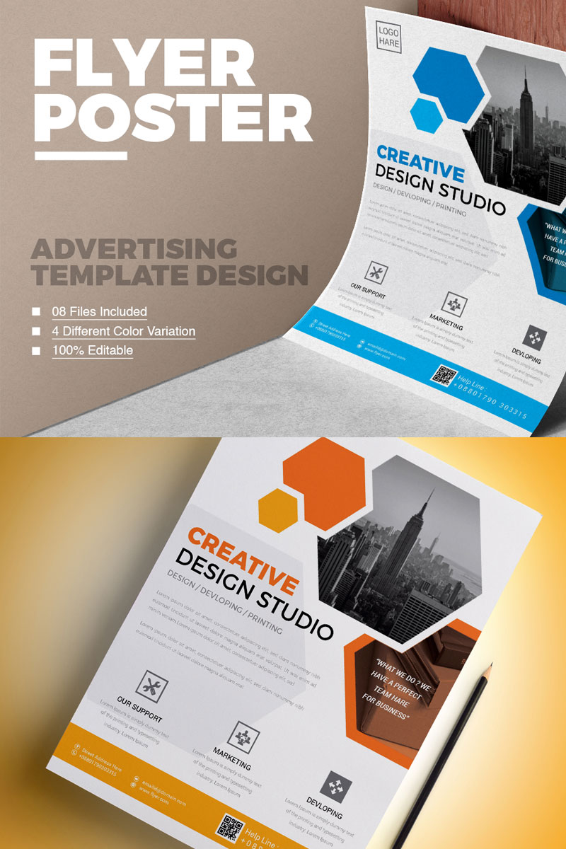 Corporate Graphic Design Clean Modern Flyer Vol 01 Corporate Identity Template 75179