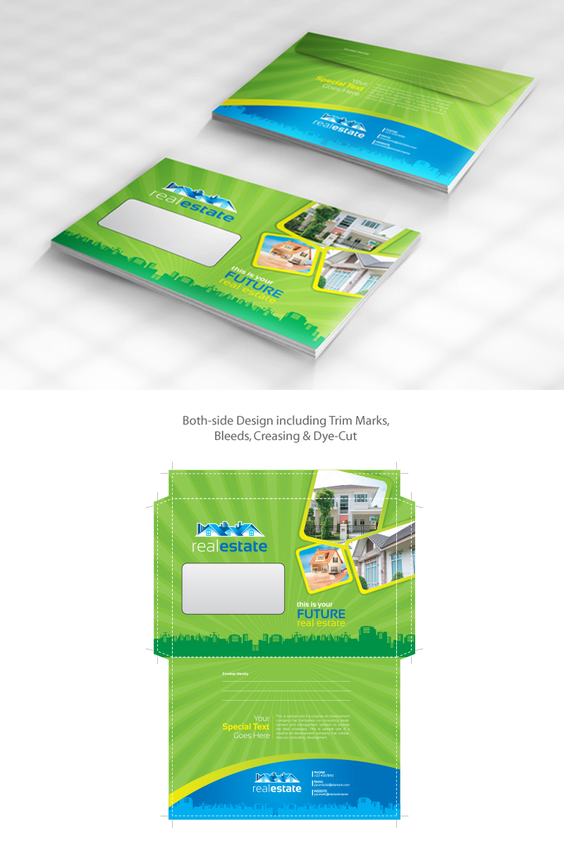 Corporate Graphic Design Real Estate Envelope Design Pack Official Size And Commercial Size Corporate Identity Template 67748