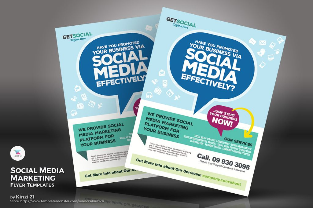 Social Media Marketing Flyers PSD Template #67235 - marketing flyer