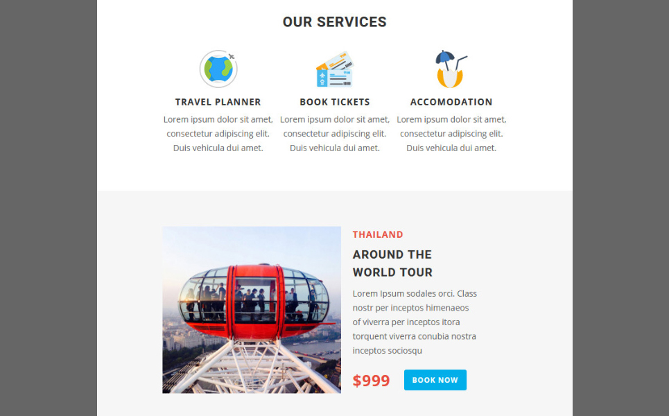 Travel - Responsive Email Newsletter Template #67153