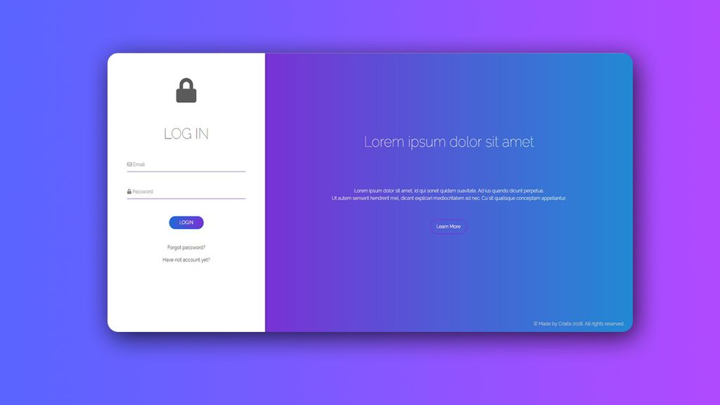 Sign In  Sign Up Template, HTML5, Bootstrap v40 Specialty Page #67252