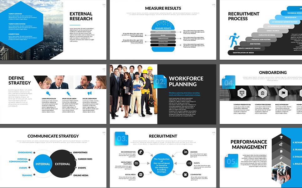 HR Process PowerPoint Template #64735