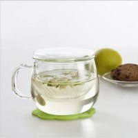 Clear Glass Teacup Mug Coffee Cup Tea Cup with Tea Infuser ...
