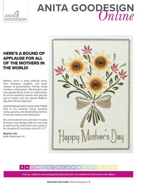 Mother\u0027s Day Cards Applique Embroidery Anita Goodesign - mother s day cards