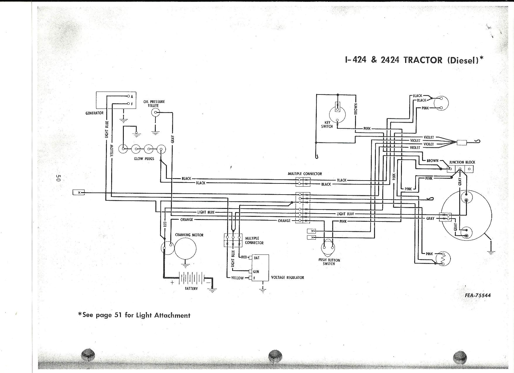 444 international tractor wiring diagram