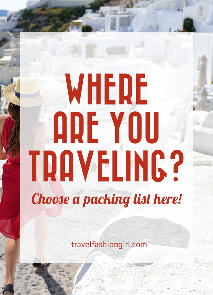 Packing Lists Directory Find out what to pack anywhere you go!