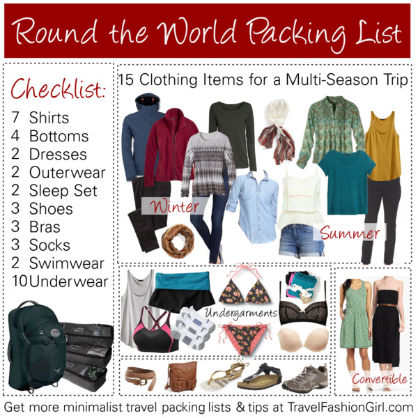 RTW Packing List Your Ultimate Guide for Around the World Travel