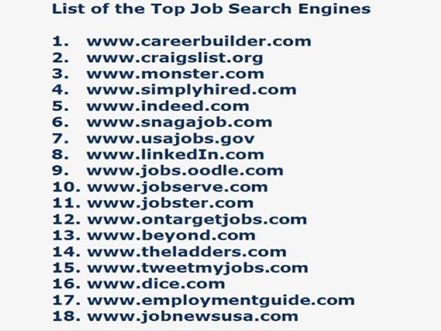 Job Search Engines List - www.rockcup.tk