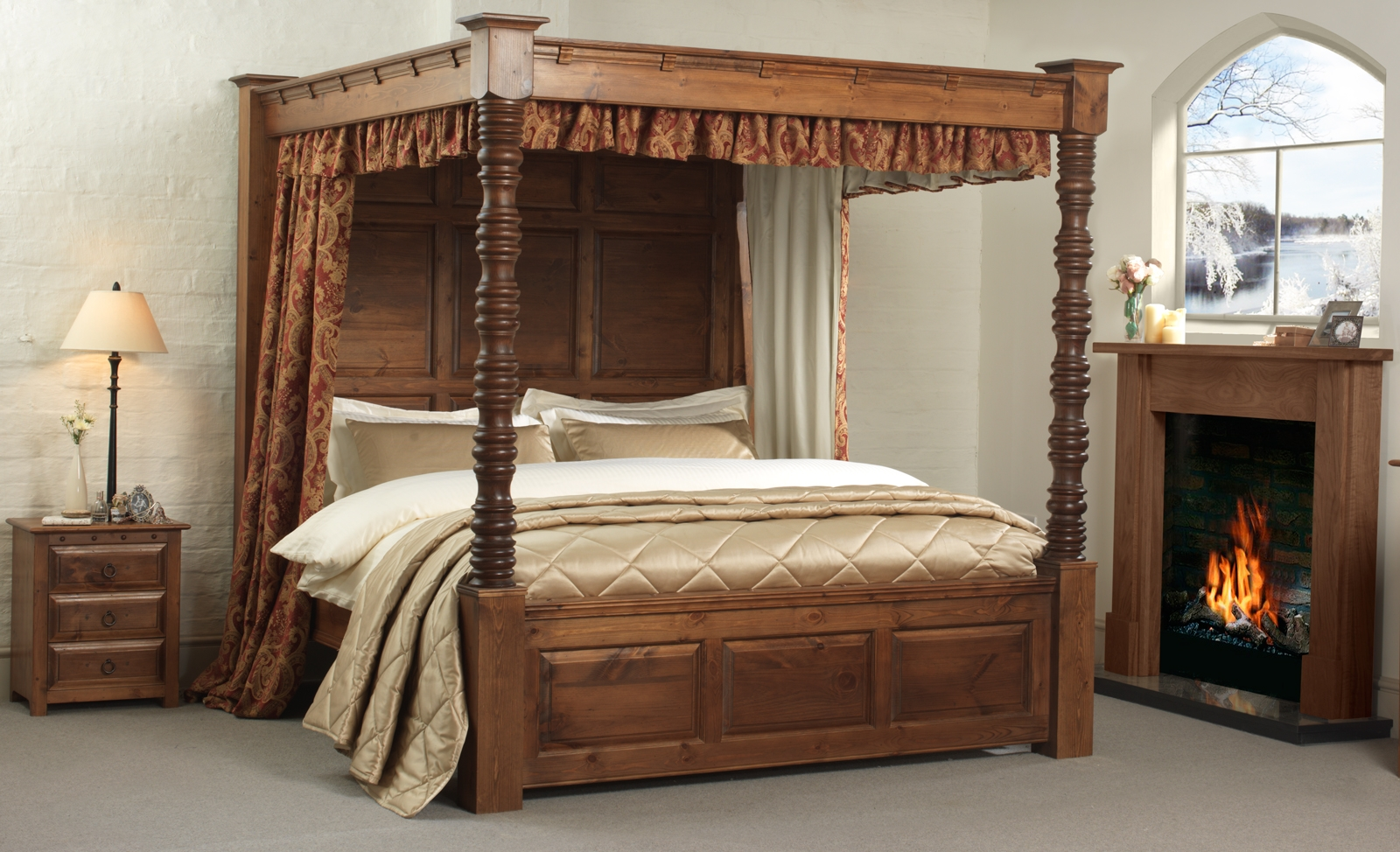 King Bed With Posts California King Bed Frame With Posts Bed Frames Ideas