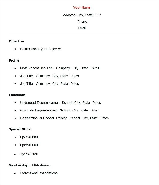 Cv format for Teachers In Word format