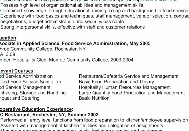 48 Business Management Graduate Cv Example