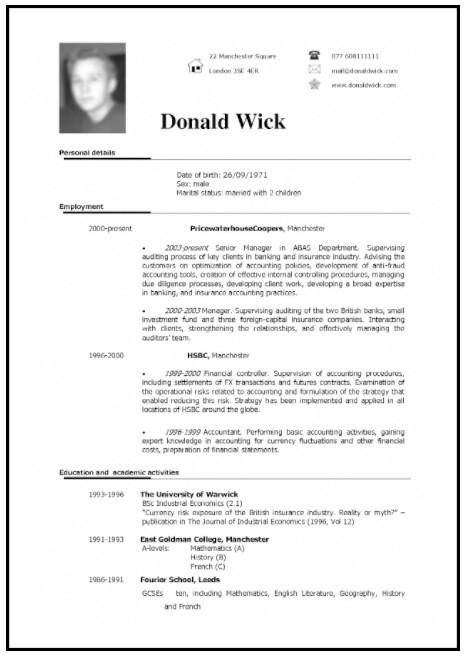 45 Curriculum Vitae formato Word Para Llenar Gratis