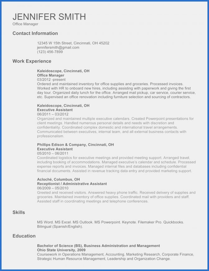 Curriculum Vitae Sample for Research