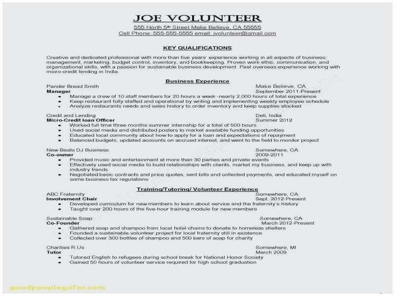 Cv English Student Internship