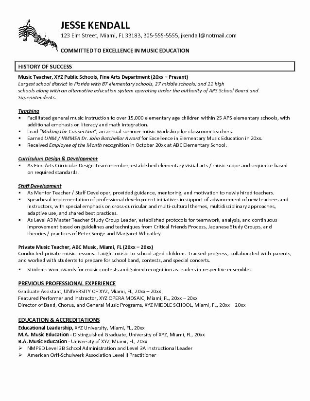 38 Cv format for School Teacher Job