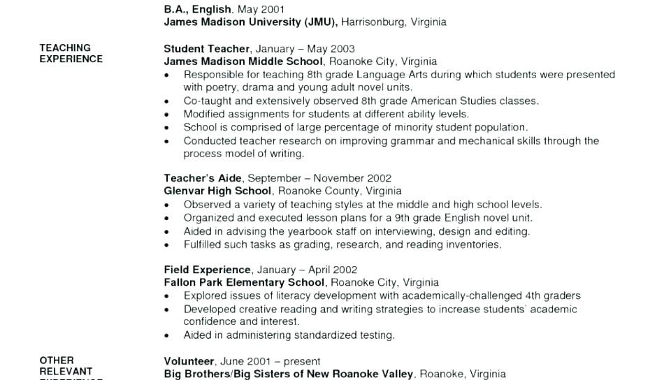 English Teacher Cv Doc