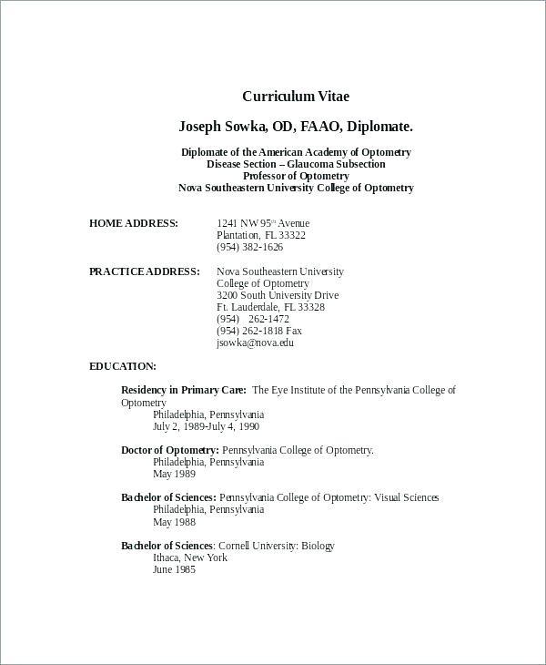 Latest Cv format Sample