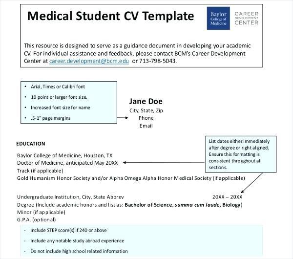 57 Medical Cv Example Uk