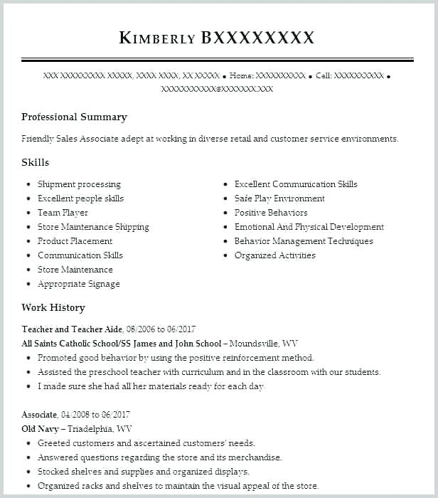 Sales Manager Cv Example Großartig Retail Sales assistant Resume