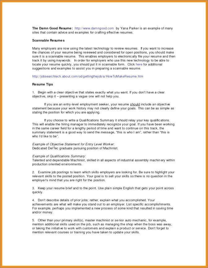 45 Student Cv Summary Sample