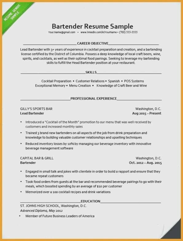 Student Simple Cv Template