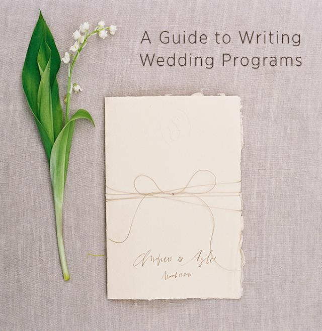 Wedding Program Wording Wedding Ideas OnceWed - Weddbook - wedding program inclusions