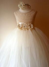 Ivory Flower Girl Dress, Ivory Tutu Dress, Bridesmaid ...