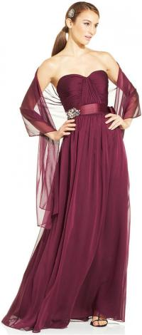 strapless dress shawls