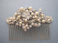 Vintage Style Bridal Hair Comb,Crystal Rhinestone And ...