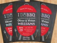 I Do BBQ Wedding Invitation. Chalkboard Backyard Invite ...