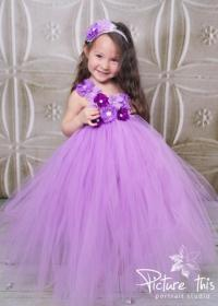 Flower Girl Dress - Purple Flower Girl Dress - Lavender ...