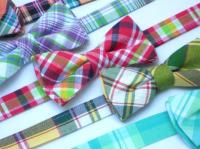 Preppy Plaid Bow Ties For Boys, Wedding Bow Ties For Ring ...